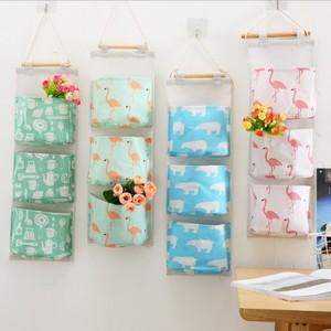MUMU sản phẩm tốt Creative dễ thương động vật phim hoạt hình vải treo túi ký túc xá ba tầng lưu trữ túi treo túi hoạt hình xung quanh