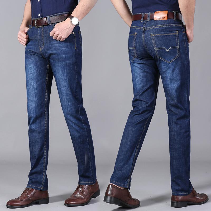 男士商务牛仔裤直筒裤休闲裤小脚裤男裤