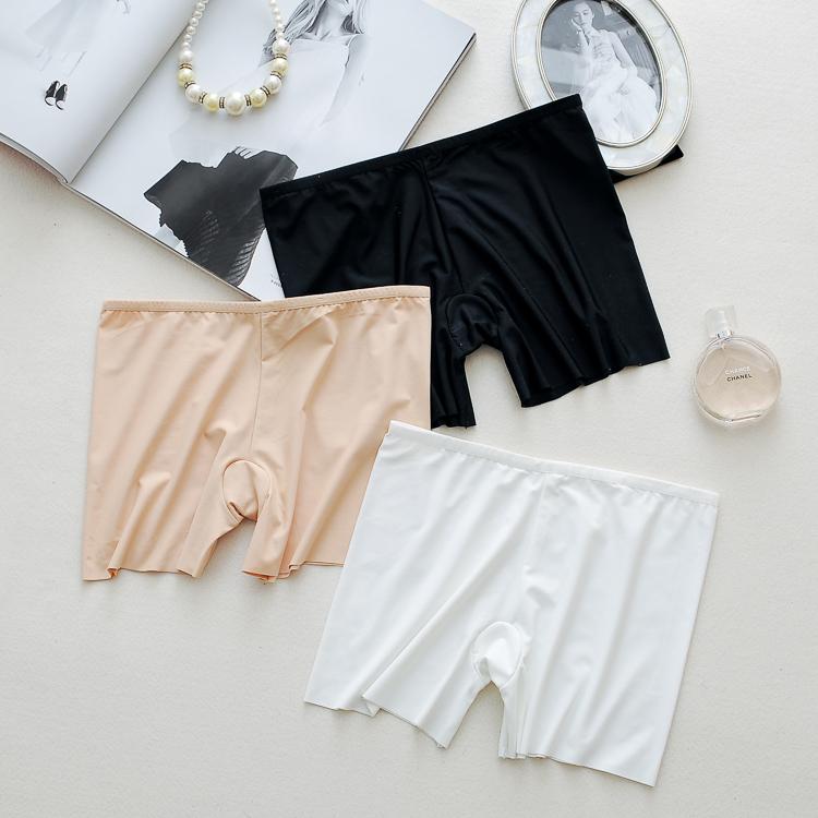 Băng lụa liền mạch một mảnh quần an toàn chống ánh sáng nữ quần short mùa hè bên ngoài mặc xà cạp stretch bảo hiểm quần ba quần