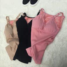 实拍实价韩版时尚带胸垫显胸塑身性感深V加绒保暖吊带背心4167