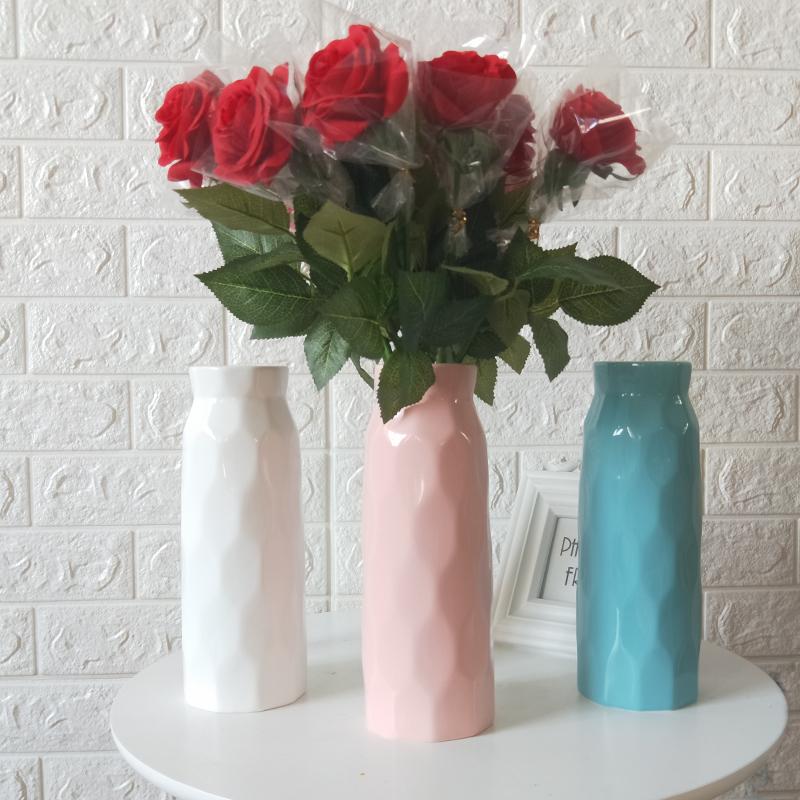 小清新陶瓷北欧花瓶现代简约干花鲜花客厅餐桌家居瓷器装饰品摆件