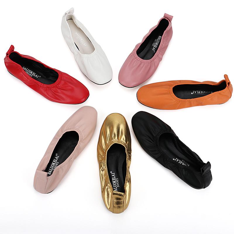 鞋子女2019新款复古奶奶鞋单鞋女平底蛋卷芭蕾舞鞋真皮懒人鞋春夏_淘宝优惠券