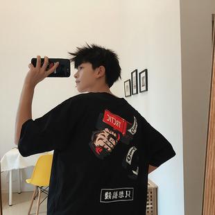 夏季男短袖T恤韩版宽松五分袖