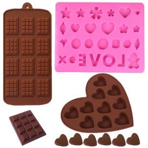 Tự làm khuôn sô cô la tình yêu thư tình khuôn nướng 12 thậm chí lỗ kẹo mút khuôn thả nhựa