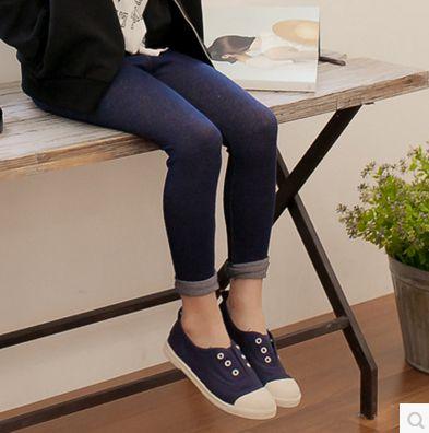 Cô gái xà cạp 2018 mùa xuân và mùa xuân trẻ em của jeans dệt kim chân Mỏng quần áo trẻ em quần bút chì hoang dã