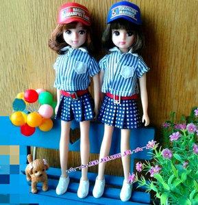 Nhật bản TAKARA chính hãng 6 điểm bé quần áo búp bê phụ kiện mũ bóng chày hip hop hat trẻ em hat cap