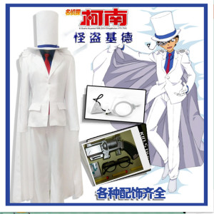 Tại chỗ Detective Conan COS quần áo trẻ em Người Lớn geek Kidd quần áo cosplay phù hợp với hàng ngày trận phù hợp với