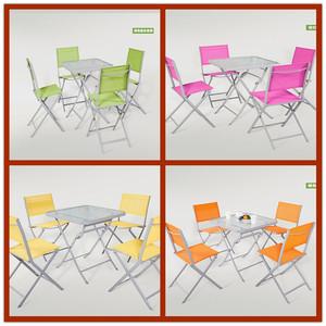Ouweibao bàn ngoài trời và ghế đồ nội thất ba hoặc năm bộ của sự kết hợp ban công cafe trà cửa hàng ngoài trời sân gấp