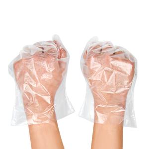一次性手套塑料透明食品加厚餐饮薄膜抽取式批发美容pvc手膜100只