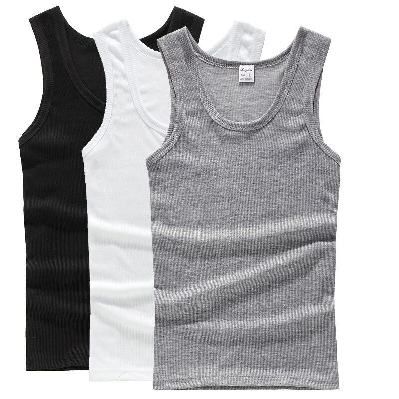 Mùa hè nam cotton vest thanh niên junior học sinh trung học nam mùa hè trai slim tự trồng t-shirt