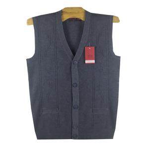 New trung niên của nam giới mùa thu và mùa đông dày vest đan len cũ cardigan vest cha len vest