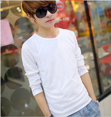 Đặc biệt cung cấp 9,9 nhân dân tệ mùa xuân và mùa hè học sinh trung học Hàn Quốc dài tay t- shirt nam rắn màu mỏng đồ lót đáy áo triều áo thun nam polo Áo phông dài