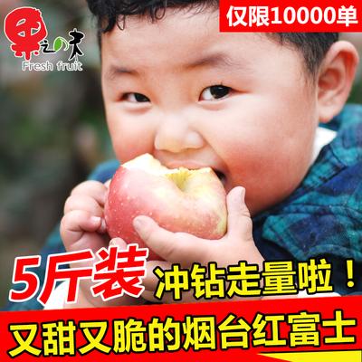 果之味 烟台栖霞红富士苹果5斤装