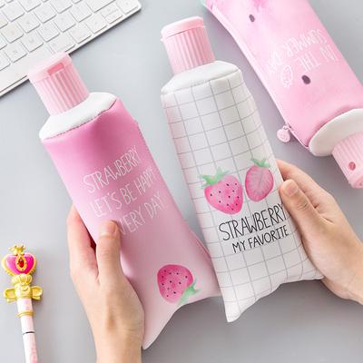 创意个性韩国ins笔袋潮流零食搞怪简约时尚少女心草莓可爱文具盒
