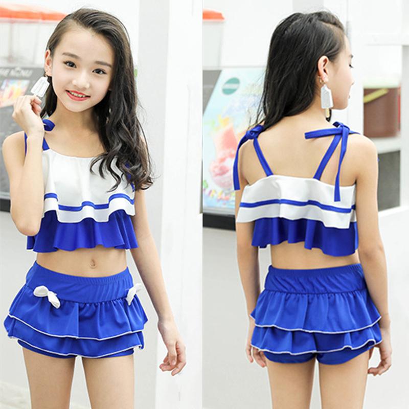 Trẻ em mới của chia áo tắm Hàn Quốc dễ thương dễ thương cô gái trung con cậu bé lớn sling đồ bơi boxer váy áo tắm