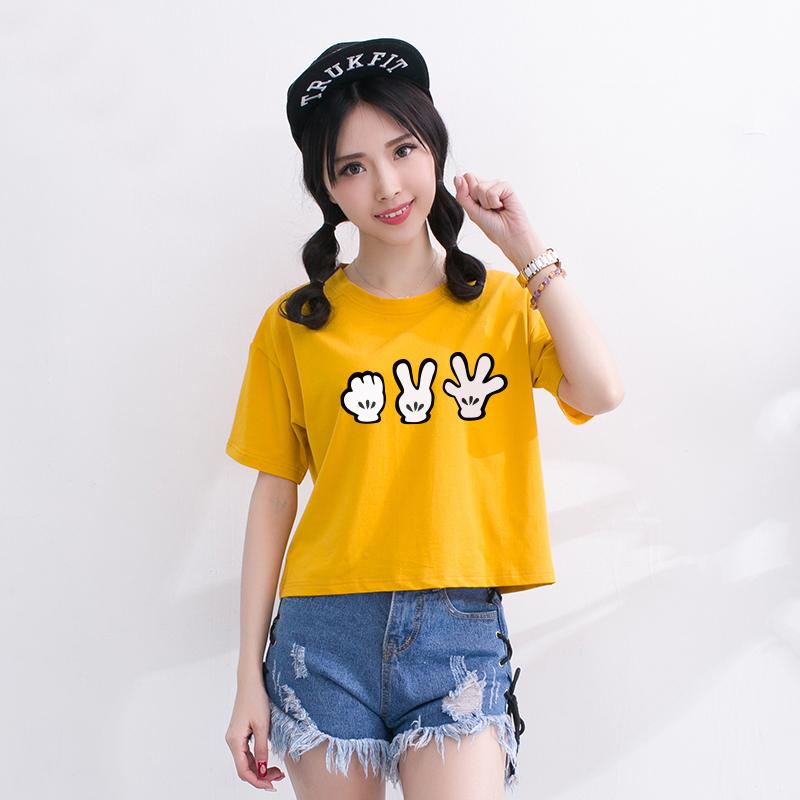韩范宽松休闲显瘦女短袖T恤-优惠20元包邮