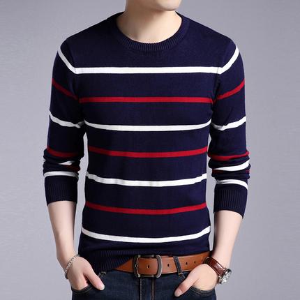 男士毛衣长袖t恤圆领打底衫线衣休闲针织衫