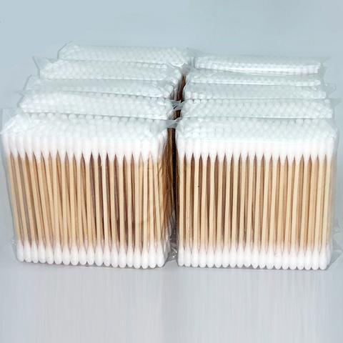天天特价(1000支)竹棒棉签双头纯棉无菌清洁美容化妆卸妆2000头