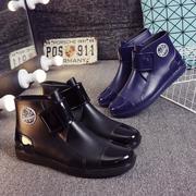 Kéo trở lại mưa khởi động của nam giới giúp đỡ thấp giày nước ngắn mưa khởi động không trượt bếp dầu- bằng chứng làm việc giày rửa xe cá giày mùa hè