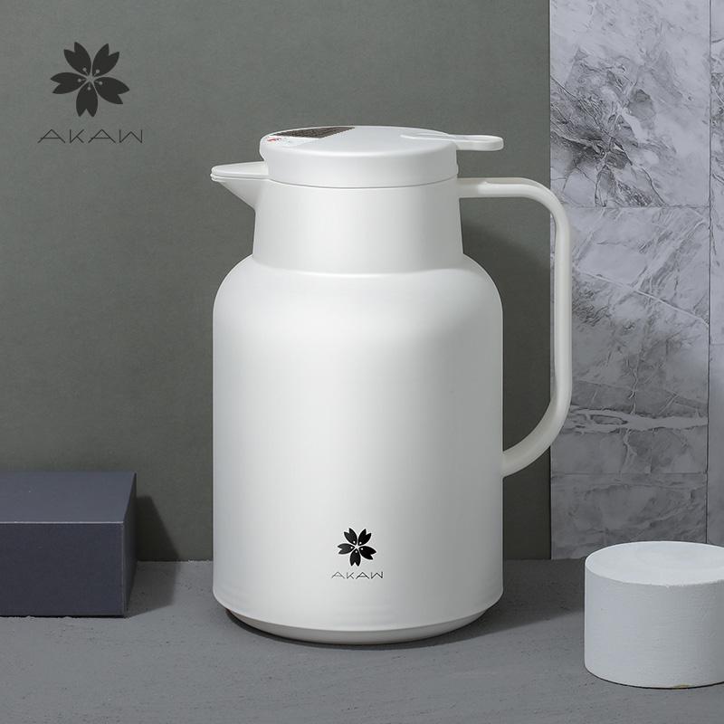 日本AKAW爱家屋保温水壶家用便携超大容量玻璃内胆暖保开热水瓶