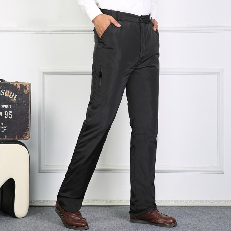 Quần xuống quần tùy chỉnh người đàn ông xuống quần mặc ấm nơi làm việc có thể tháo rời ba mặc giản dị lớn quần ánh sáng
