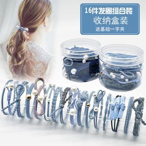 Hàn quốc Xiaoqing Xinsen nữ tóc dây tóc phụ kiện đơn giản tie tóc ponytail ban nhạc cao su đầu ngọt ngào rope tóc nhẫn set