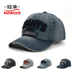 男士新款韩版牛仔棒球帽春季时尚户外鸭舌帽休闲字母刺绣遮阳帽子
