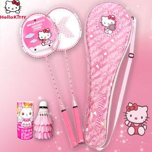 Подлинный hello kitty Hellokitty бадминтон стрелять милый KT кошка розовый в такт мисс ракетка бесплатная доставка