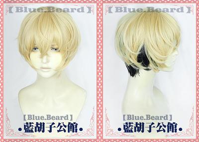 taobao agent 【Blue beard】Matsuno Chidong Cos Wig Rebirth Tokyo Swastika Avengers Two-color Gradient