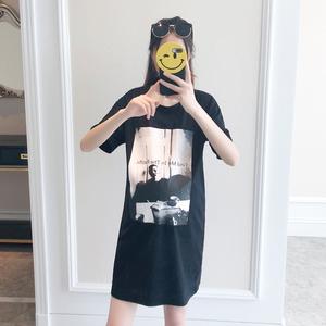 8063# 2018夏季孕婦T恤 印花短袖T恤 修身韓版孕婦寬松T
