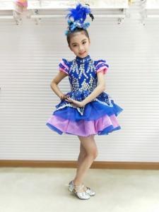 Cô gái mới solo host dress kho báu màu xanh puff sleeves trang phục tùy chỉnh mô hình