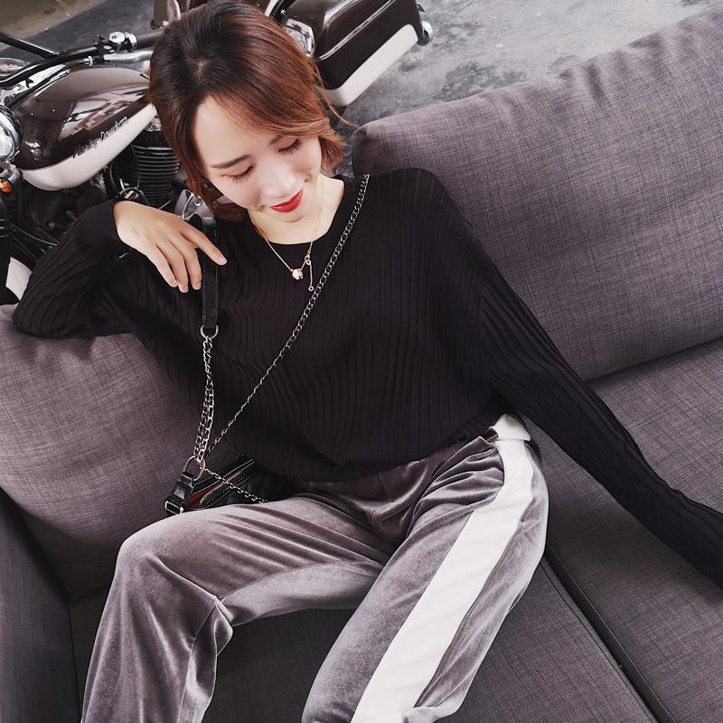 Ice linen áo len nữ 2018 mới của Hàn Quốc phiên bản của phần mỏng của màu rắn lỏng mỏng thời trang hoang dã bat tay áo triều