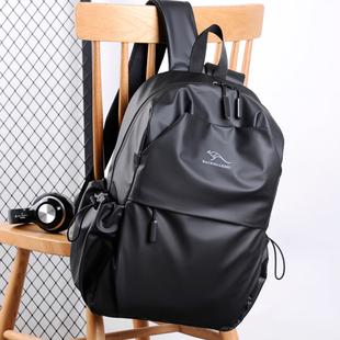 袋鼠双肩包男大容量商务休闲旅行电脑包书包