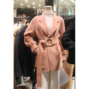 Chống mùa giải phóng mặt bằng len nhỏ áo khoác nữ thời trang Hàn Quốc mùa thu và mùa đông dễ thương ngắn màu hồng ren áo len