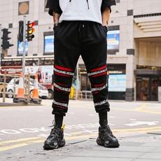2019青少年潮牌束脚宽松嘻哈跳舞运动裤 国潮纯棉长裤小脚九分裤