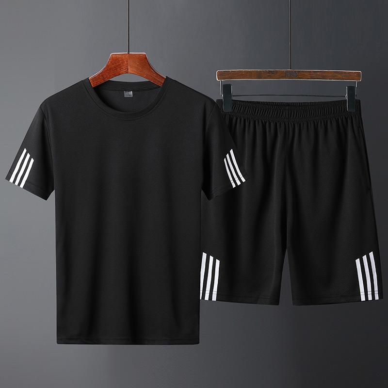 运动套装男短裤短袖t恤潮流夏天宽松休闲两件套夏季跑步健身衣服,免费领取200元淘宝优惠券