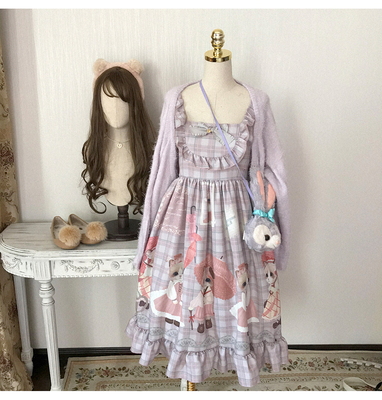 42agent Homemade scorpion rainy day retro plaid printed sling in the waist dress - Taobao
