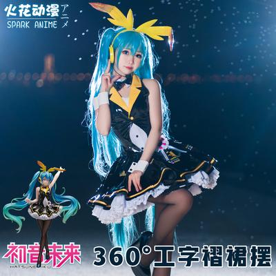 taobao agent Spark anime vocaloid hatsune miku cos clothing v home miku hatsune bunny girl cosply costume female