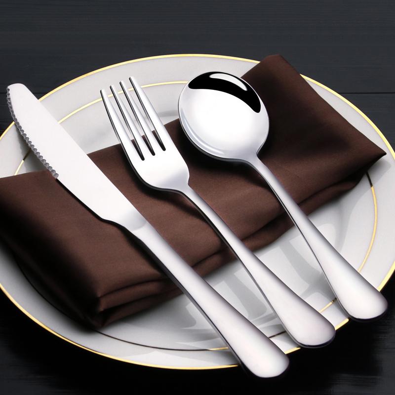 Thép không gỉ bộ đồ ăn Phương Tây tấm bít tết gốm đặt Tây dao và ngã ba hai mảnh bít tết dao và muỗng nĩa