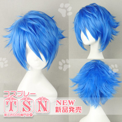 taobao agent The Second V Family COS Wig KAITO Long Cry Big Brother Royal Blue Geral Fairy Tail 383