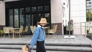 2018冬装新款韩版女装外套加厚宽松牛仔棉服羊羔毛外套