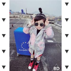 Betty 2016新款 儿童呢料大花西装大衣外套 韩版呢料花大衣