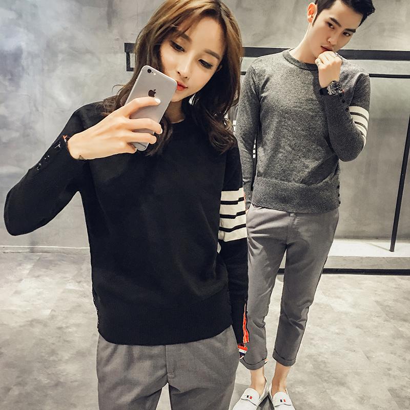 Các TB mới Song Zhongji Li Yifeng với áo sơ mi nam Hàn Quốc phiên bản của tự trồng vài chiếc áo len màu áo thun rắn