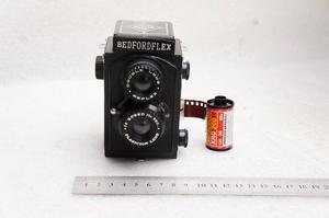 Đức bedfordflex trang trí đôi phản xạ máy bakelite nhựa ống kính đôi trang trí hiển thị 127 phim