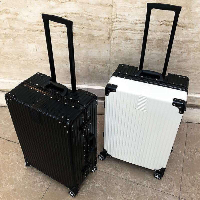 5韩版行李箱女拉杆箱男学生旅行箱万向轮皮箱子大容量密码箱铝框