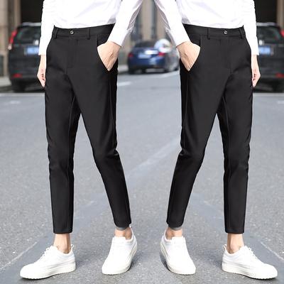 Chín quần nam quần của nam giới Hàn Quốc phiên bản của xu hướng tự trồng chân quần 9 điểm quần nhỏ nam quần âu mùa hè không dính tóc