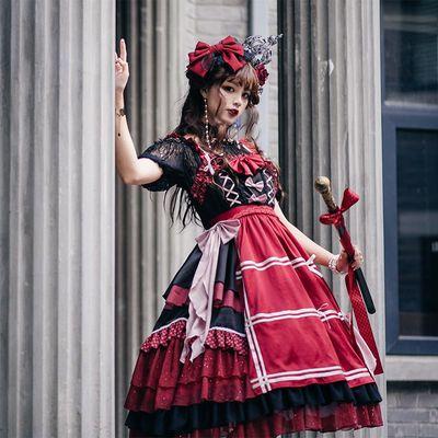 taobao agent Miao original design dark night little witch lolita Japanese cute bow girly style jsk suspender skirt