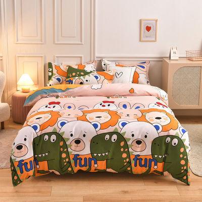 四件套纯棉被套床上四件套简约单人学生宿舍床单三4件套床上用品