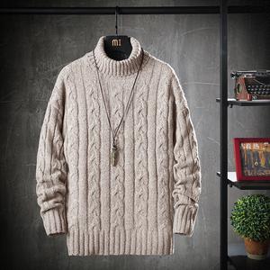 春秋新款男士圆领纯色长袖秋冬毛衣休闲套头小清新宽松外穿