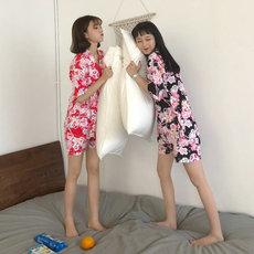 3010# 实拍 实价 甜美 樱花和服+裤子 宽松 家居服